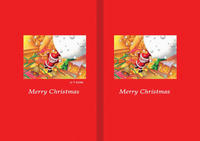 クリスマスイラスト(色鉛筆画) - 「やってきたサンタクロース」