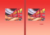 ファンタジーイラスト(色鉛筆画) - 「夜行列車」