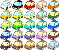 35種類・カラーバリエーション - 車のクリップアート