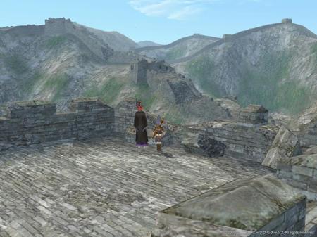 長城の上からの眺め