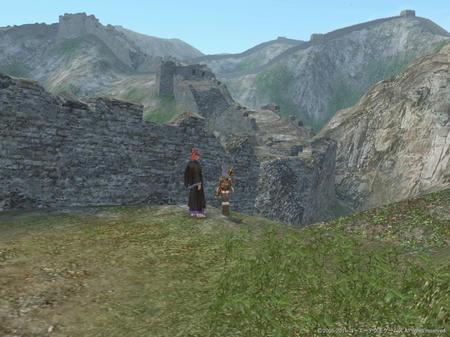 長城のそばからの眺め