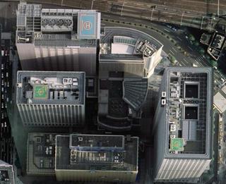 ビル屋上にある数々の設備