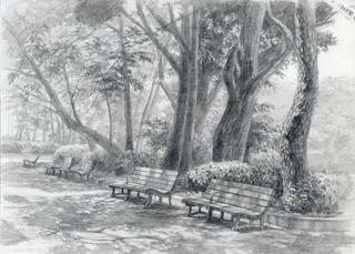 公園デッサン スケッチ