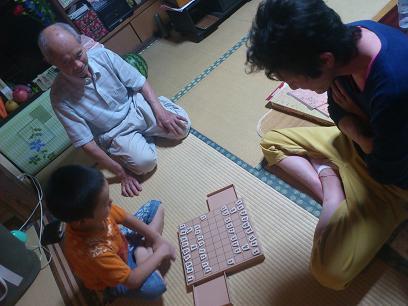 将棋。監督はおじいちゃん。