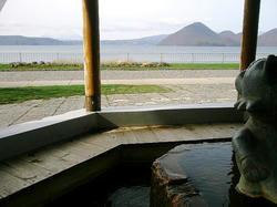 足湯から洞爺湖を眺める.jpeg