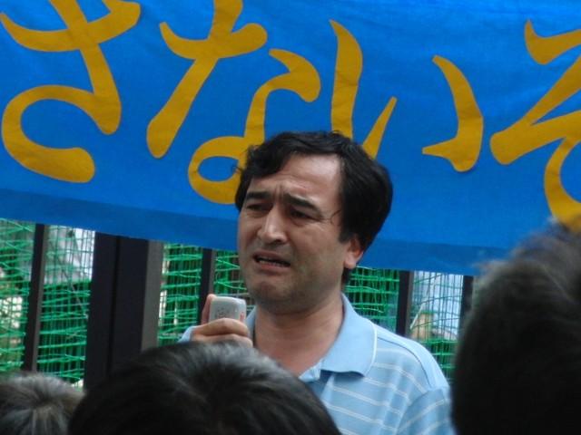 中国政府によるウイグル人虐殺抗議デモ イリハム・マハムティ