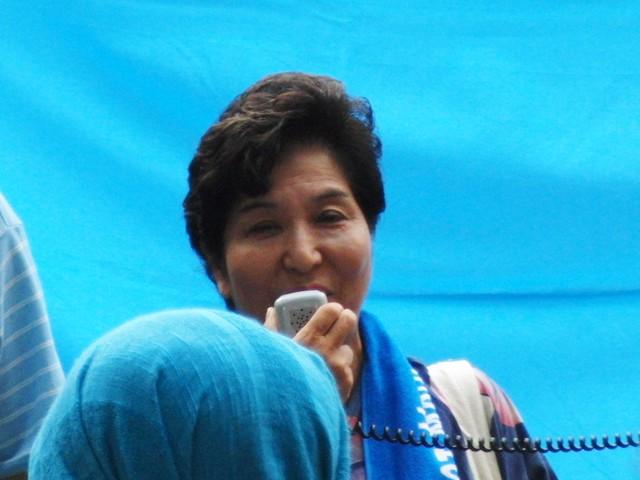 中国政府によるウイグル人虐殺抗議デモ 杉浦芳子