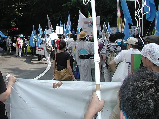 北京五輪反対デモスタート