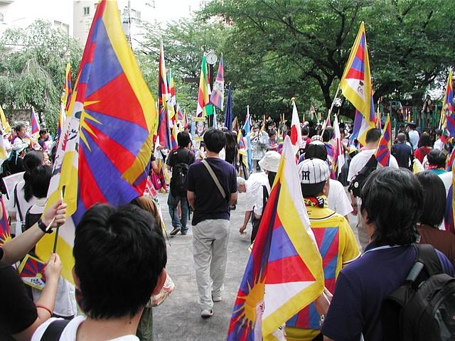 チベットデモ出発前の様子
