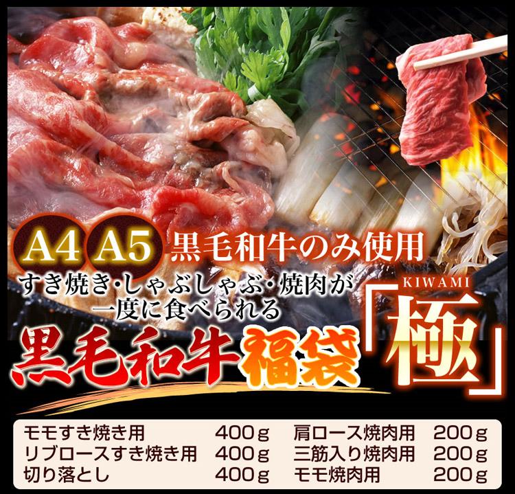 【父の日用 某高級焼肉店に卸しているA4・A5等級のみ】黒毛和牛究極福袋 1.8kg