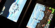 DSならではの2画面構成。上から下から容赦のない攻撃;