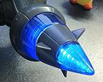 ポケモンのプラモ「ポケプラ」のゼクロム - LEDを仕込んで劇中と同じように光る仕様に改造