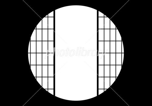 丸窓 京都 和風 背景(開) サンプル画像