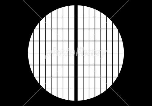 丸窓 京都 和風 背景(閉) サンプル画像