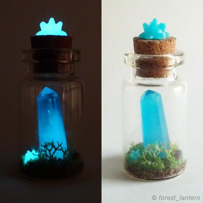 夜光水晶の小物の写真:ハンドメイド
