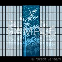 竹 夜空 七夕 丸窓 和風のベクターデータ サンプル画像
