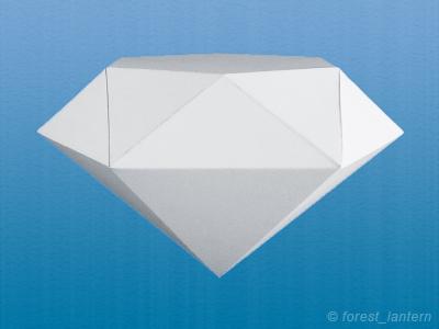 ペーパーダイヤモンドの完成図の写真
