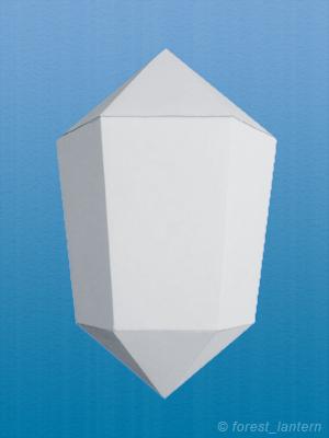 ペーパークリスタルの完成図の写真