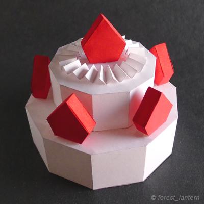 ペーパーショートケーキの完成図の写真