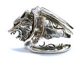 GODSIZE WOLF RING / Custom Transverse Arabesque Stamp ゴッドサイズ ウルフリング カスタム刻印 横唐草