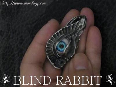 BLIND RABBIT, ブラインド ラビット,Ecstasis,ブルーアイ,ペンダント,義眼,全体,シルバーアクセ,ブランド,ドメスティック
