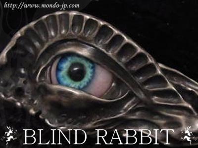 BLIND RABBIT, ブラインド ラビット,Ecstasis,ブルーアイ,ペンダント,義眼,銅,シルバーアクセ,ブランド,ドメスティック