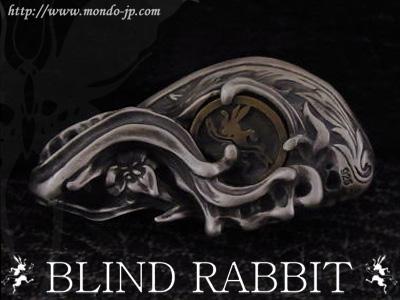 BLIND RABBIT, ブラインド ラビット,Ecstasis,ブルーアイ,ペンダント,義眼,後側,シルバーアクセ,ブランド,ドメスティック