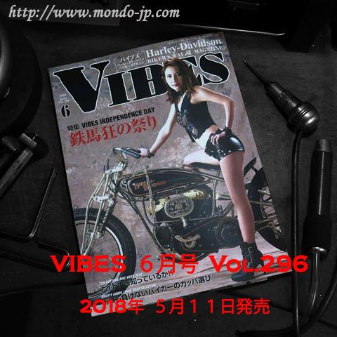 VIBES,バイブス,2018年6月号,Vol.296,5月11日発売,バイカー,バイク