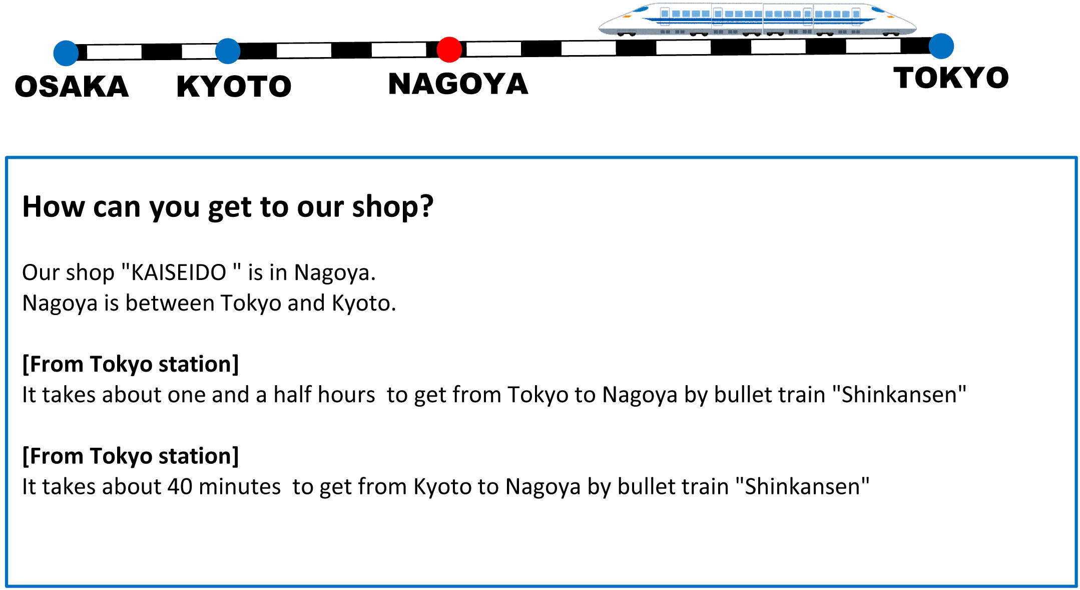 how can you get to our shop kaiseido shop in japan you can buy