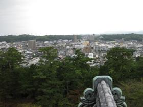 松江城 天守閣からの眺め1