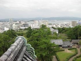 松江城 天守閣からの眺め2