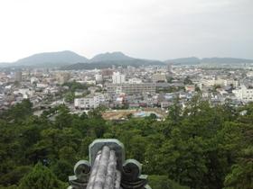 松江城 天守閣からの眺め3