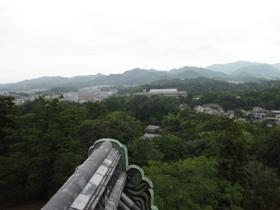 松江城 天守閣からの眺め4