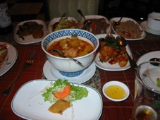 2日目 タイ・バンコク旅行 タイ料理の夕食