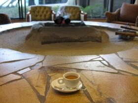 湯布院温泉 ゆふいん泰葉 朝食後 コーヒーのサービス