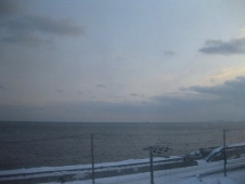 39稚内 ホテルおかべ汐彩亭 客室の窓から見た眺め