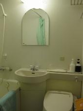 稚内温泉 稚内グランドホテル 客室ツインルームバス・トイレ・洗面台