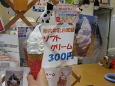 発掘「てっぺん 宗谷探検隊」 稚内副港市場 稚内牛乳で作ったソフトクリーム