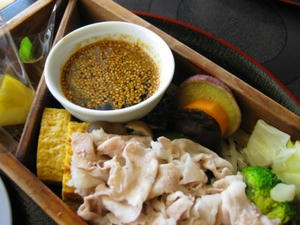 『いち にぃ さん』 黒豚の野菜蒸しセット/黒豚