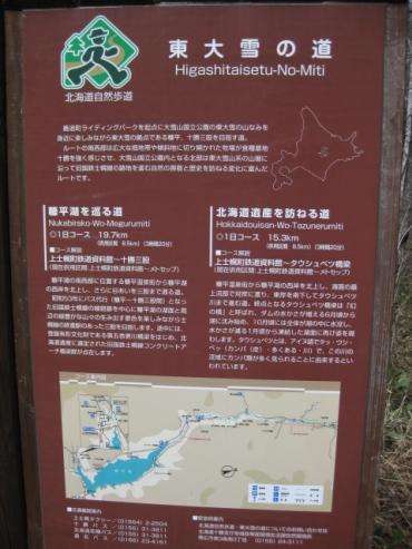 糠平湖を巡る道
