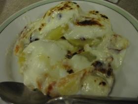 糠平源泉郷 中村屋 夕食 自家製ベーコンと小豆とレッドムーンのグラタン