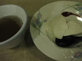 糠平源泉郷 中村屋 夕食 デザート:八列とうきびのムース