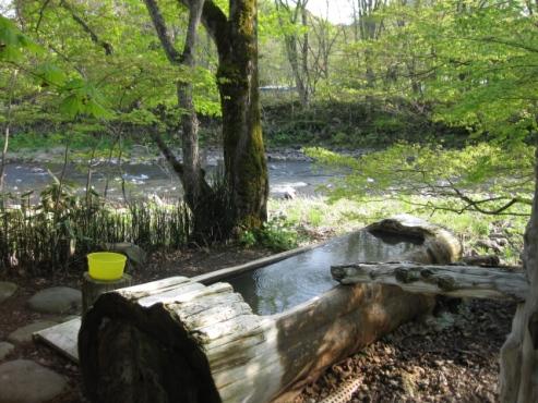 上の湯温泉『温泉旅館銀婚湯』野天風呂「トチニの湯」