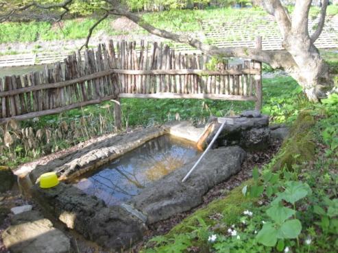 上の湯温泉『温泉旅館銀婚湯』野天風呂「もみじの湯」