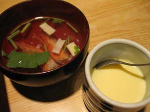 大船鮨 / お吸いもの、茶碗蒸し