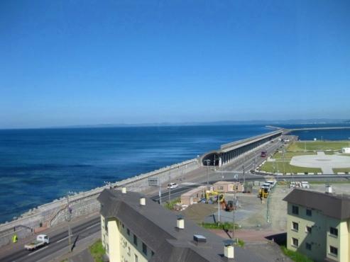 『ホテル おかべ汐彩亭』客室の窓から見た風景
