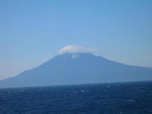 稚内港から香深港へ フェリーで見た利尻富士