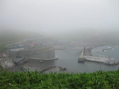 西上泊の集落と漁港