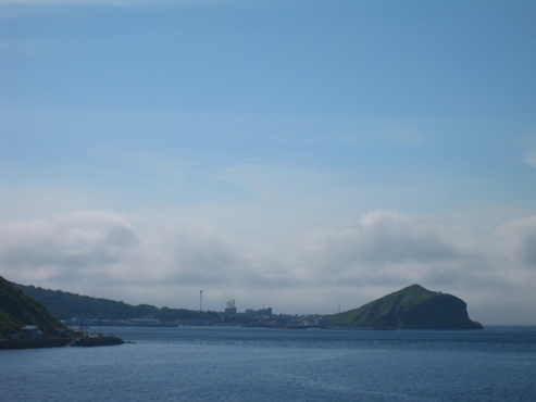 野塚展望台から見たぺシ岬