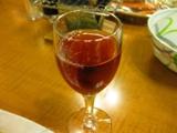 利尻マリンホテル 夕食 食前酒:ハスカップワイン
